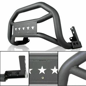 For 2005 2020 Toyota Tacoma Textured Black Front Bull Bar Bumper Grille Guard