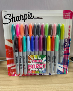 Sharpie 24 count Colors Fine Point Burst Permanent Markers Assorted Colors