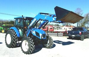 2015 New Holland T 4 65 Tractor Cab 4x4 Loader free 1000 Mile Delivery From Ky