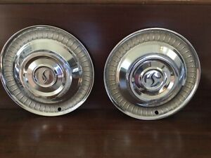 Studebaker Hubcaps Pair Good Condition 1959 1964