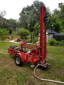 Water Well Drilling Machine Geothermal Drill Rig Pump Driller Barely Used