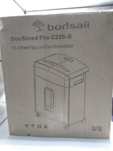 Bonsaii 10 sheet High Security Micro Cut Paper Shredder C220 b