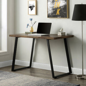 Home Office Computer Desk Pc Laptop Table Workstation Study Writing Desk Brown