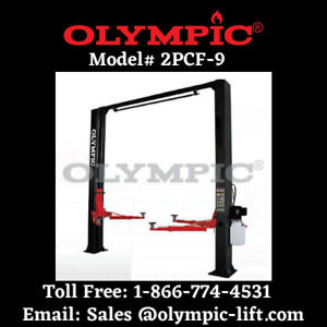 2 Post Overhead Car Lift 9 000 Lb 5 year Warranty Olympic Commercial Quality