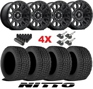 Black Wheels Rims Tires 265 70 17 At Nitto Terra Grappler Package Fuel Vector