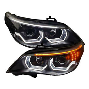 2pcs Xenon Headlight Assembly Fit For Bmw 5 Series E60 Hid Beam Lens 2004 2007