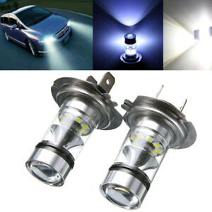 2xh7 100w Cree Led Fog Tail Driving Car Head Light Lamp Bulbs White Super Bright