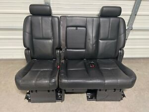 2007 2014 Suburban Escalade Esv Yukon Xl 2nd Second Row Black Bench Seat