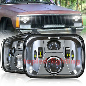 For Jeep Cherokee Xj Truck Accessories 5x7 Led Headlight For Jeep Wrangler Yj