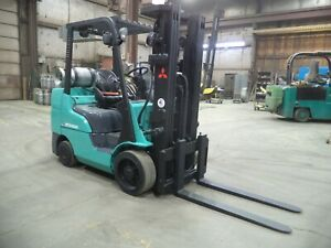 2014 Mitsubishi Fgc30n lp 6 000 6000 Cushion Tired Forklift W 3 Stage Ss