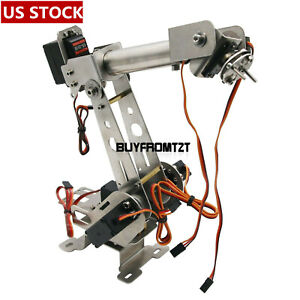 Us 6dof Robotic Arm Clamp With Servos Diy Kit For Robot Arduino Scm Unassembled