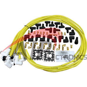 Transparent Yellow White Ceramic Universal Spark Plug Wire Set For All Vehicles