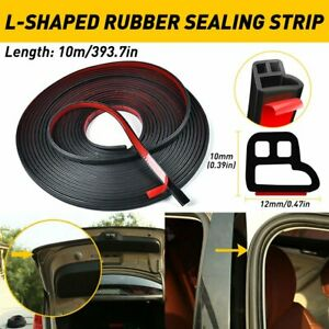 L Shape Car Door Rubber Seal Strip Hood Trunk Trim Edge Guard Weatherstrip 10m
