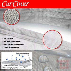 Small Vehicle Car Cover 4 Layer Uv Protect Water Rain Resistant Cotton Inlay