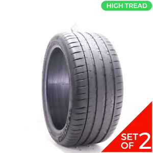 Set Of 2 Used 295 35zr20 Michelin Pilot Sport 4 S Mo1 105y 8 9 5 32