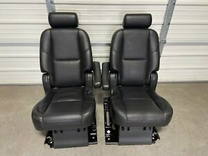 2007 2014 Escalade Esv Suburban Yukon Xl 2nd Second Row Black Bucket Seats