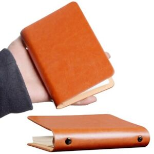 A7 Leather Pocket Loose leaf Notebook Mini Book Cover Travel Notepad Diary