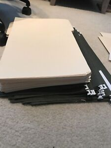 24 Used Legal Size Green Hanging File Folders And 67 Never Used Manila Folders