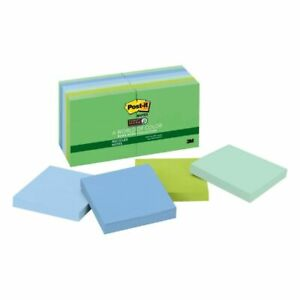 Super Sticky Notes 3 x3 90 Sht pd 12 pk Tropical