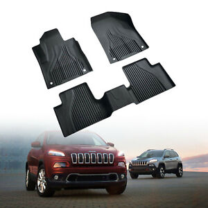 Floor Mats For 2014 2018 Jeep Cherokee All Weather Tpe Floor Liner Slush Mat Set