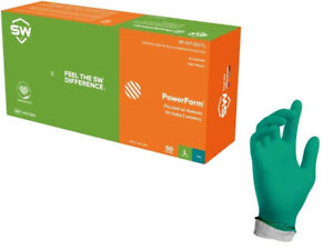 Sw Teal Nitrile Latex free Heavy Duty Gloves 6 2mil Thick 50 box