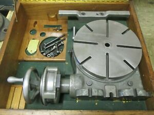 Used 11 Moore Vertical horizontal Ultra precision Rotary Table In Case sr