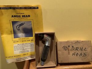 Vintage Sears Craftsman 90 Degree Angle Drill Head Attachment 605 18500 Tool