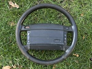 90 93 Mustang Leather Wrapped Steering Wheel W Cruise Control 1990 1993 Oem A