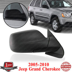 Right Passenger Side Mirror Heated Textured For 2005 2010 Jeep Grand Cherokee
