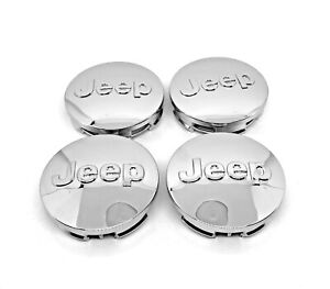 4x Jeep 64mm 2 5 Chrome Wheel Center Cover Caps Grand Cherokee Wrangler Compass