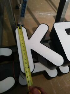 Letter K Retro Marquee Channel Letters K Retro Sign Letter Only No Led