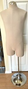 Male Mannequin Suit Dress Form Pinnable Fabric Metal Stand Pick Up Only