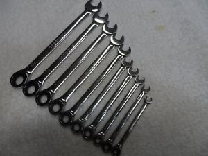 Craftsman Sae Full Polish Combination Ratcheting Wrench Set 10 Pcs