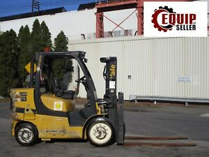 2015 Yale Glc155vxn 15000lb Forklift Boom Truck Propone Fork Positioners