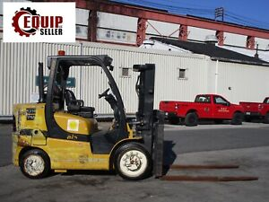 2015 Yale Glc155vx 15000lb Book Truck Forklift 72in Forks Propane Positioners