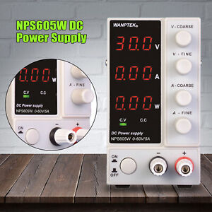 New Adjustable Power Supply 60v 10a 110v Precision Variable Dc Digital Lab Smps