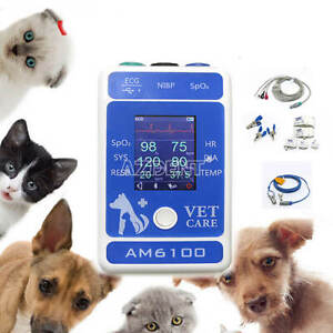Bluetooth Animal Veterinary Animal Patient Monitor Temp Nibp Spo2 Heart Rate