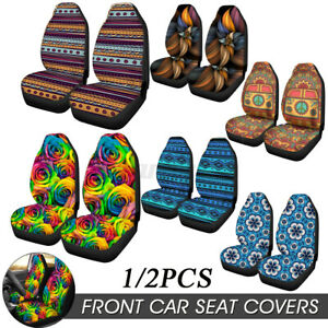 1 2pcs Universal Car Front Seat Cover Fabric Cases Protector For Sedan