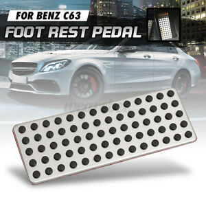 Car Non Slip Foot Rest Plate No Drill Footrest Pedal Cover For Mercedes Lhd