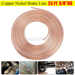 Universal 25ft Copper Brake Fuel Line Hose Pipe Trans Tubing 3 8 Od Coil