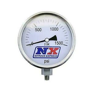 Nitrous Express 15540 Nitrous Pressure Gauge 4in Dia High Accuracy 1 8 Npt