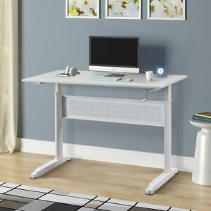 Height Adjustable Computer Desk Pc Laptop Table Study Writing Desk Home Office
