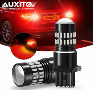 Auxito 7443 7444 Red Led Flash Brake Tail Stop Light For 1999 2015 Honda Civic