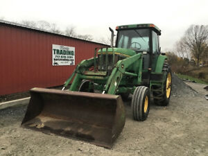 1997 John Deere 7700 2wd 130hp Farm Tractor W Cab Loader Only 7000hrs