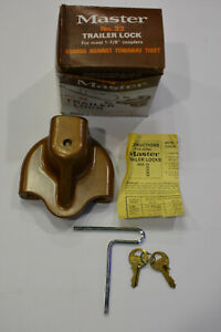 Master Trailer Lock With Keys For Most 1 7 8 Couplers Boat Rv Utility Trailer