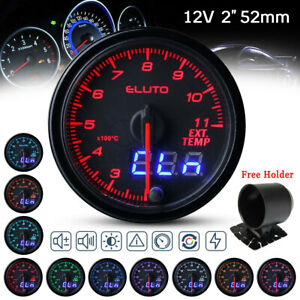 2 52mm 10 Color Led Display Car Exhaust Gas Temp Gauge Egt Temperature Meter Us