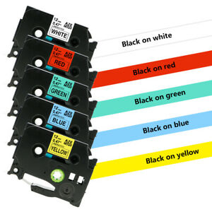 Tze 231 Tz431 Tze631 Label Tape Compatible For Brother P touch 5 Color 12mm 5pk