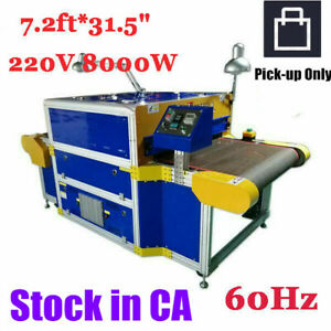 Ca Pick up 220v 8000w Conveyor Tunnel Dryer 7 2ft X 31 5 Belt 60hz