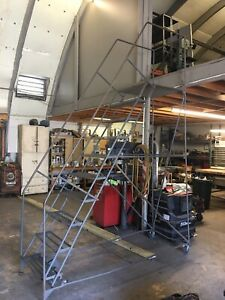 10 Step Rolling Warehouse Commercial Ladder