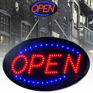 Bright Led Open Sign Neon Light Animated Motion Flash Business Ad Board Lamp
